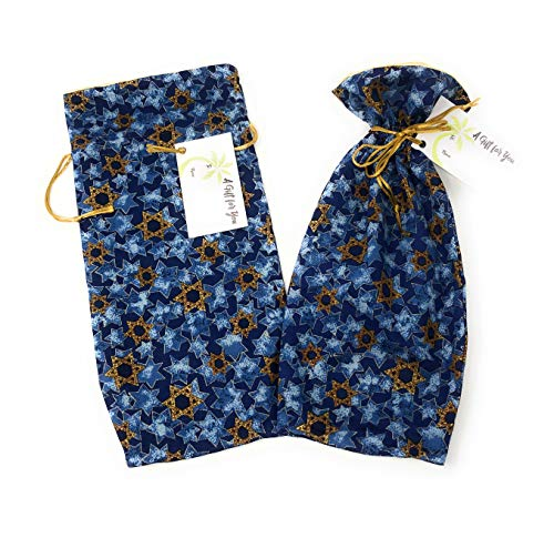 """Star of David Fabric Reusable Drawstring Gift Bag 