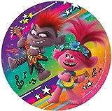 Dekora- decoracion tartas de cumpleaños infantiles en disco de oblea de dreamworks trolls-20 cm (160158)