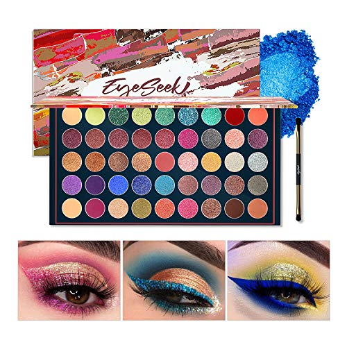 EYESEEK Matte Eyeshadow Palette Glitter 45 Shades Sparkle Eye shadow Palette Metallic Makeup Pallet High Pigmented Long Lasting Waterproof Makeup Eyeshadow Palette #Glitter