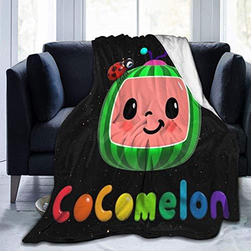 Edredones Cocomelon Manta Manta para Ropa de Cama para niños pequeños Manta de Forro Polar de Franela Ultra Suave para Cuna Cochecito de Viaje Decorativo 50 'x40' (50 'x40' color3)
