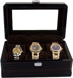 SM-S Watch Storage Box 3-Position Table Box Transparent Glass Cover Lockable Wooden Paint Storage Box Storage Cabinet