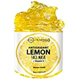 O Naturals Hydrating & Acne Fights Gel Mask for Face Lemon Vitamin B Vegan. Face Moisturizer Antioxidant Anti-Aging Treats Oily Skin Organic Ingredients Hyaluronic Acid For Men & Women Skincare 8oz