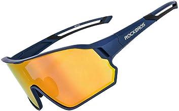 ROCKBROS Fietsbril, gepolariseerde zonnebril, sportbril met UV400-bescherming, TR90-montuur, voor outdoor-sport, fietsen, ...