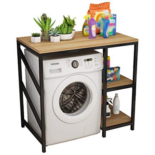 Zzmop 3 Tier Washing Machine Shelf Organizer,Adjustable Bathroom Tower Shelf,Bedroom Storage Rack,Space Saver,Brown,for Laundry Room,Living Room.