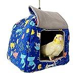 Bird Tent Plush Hammock Parrot Warm Hanging Nest for Cage,Bird Hideaway Hut Swing House Bed,Small Animals Habitat Winter Snuggle Sleeping Cave for Hamster Rat Parakeets Conure Cockatiel Lovebird
