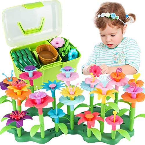 Girls Toys Age 3 6 Year Old Toddler Toys for Girls Gifts Flower Garden Building Toy Educational product image