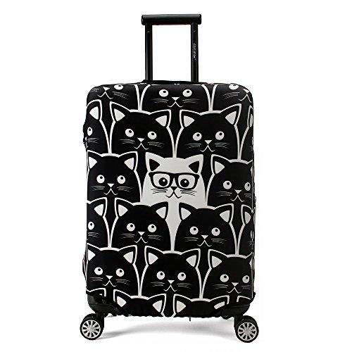 Maddy's Home Nette Gepäck-Schutzhülle Kofferabdeckung Katze für 26-28 Zoll Koffer (L)