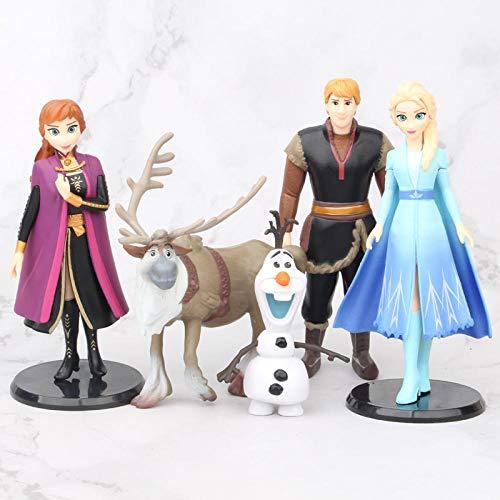 Snow Queen Elsa Anna Olaf PVC Action toys Figure Olaf Kristoff Sven Anime Dolls Figurines Kids Children Gift 9~14CM-sets-HF