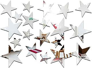 Arichtop 20pcs / Set Forma de Estrella del Espejo Pegatinas