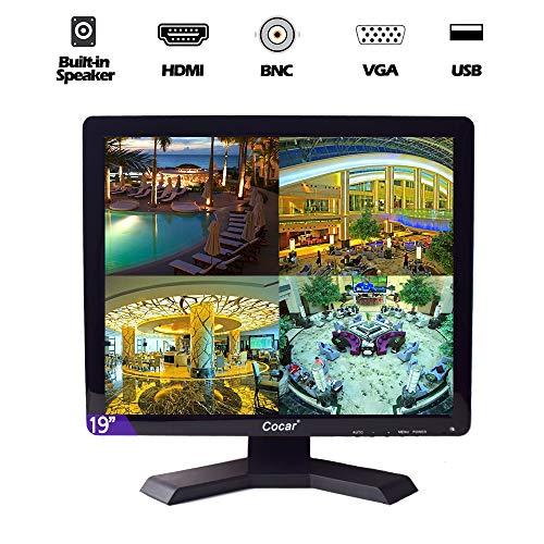 Cocar 19 inch CCTV-monitor VGA HDMI AV BNC 1280x1024 ingebouwde luidspreker LCD-veiligheidsscherm met USB-drive-speler voor thuis-/winkelbewakingscamera STB PC
