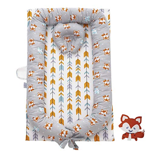 Save %12 Now! Brandream Baby Nest Bed, Fox Arrow Newborn Lounger Woodland Baby Bassinet for Bed Cott...