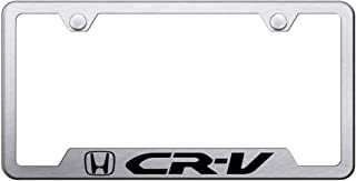 Au-Tomotive Gold, INC. License Plate Frame for Honda CRV Stainless Steel Brushed Chrome