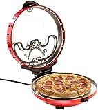 Rosenstein & Söhne Pizzamaker: Pizza-Maker mit Timer und Steinofenplatte, für Pizza mit Ø 29 cm...