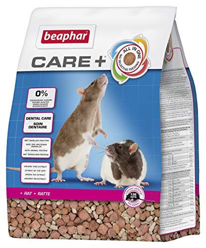 BEAPHAR – CARE+ – Alimentation Super Premium extrudée pour rat – Extrait de thé vert – Proteines animales – Haute digestibilité – Participe à l'usure naturelle de dents – Sans sucres ajoutés – 1,5kg