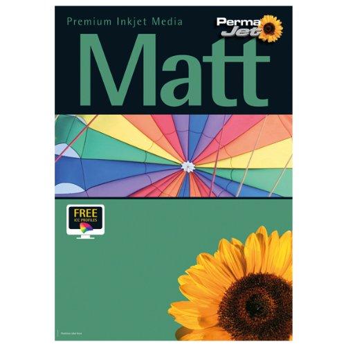 PermaJet Matt/Plus - Papel fotográfico mate (50 hojas, tamaño A4, 240 g/m²)