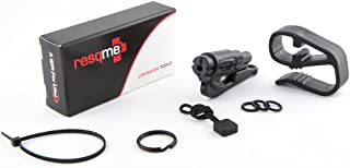 resqme The Original Keychain Car Escape Tool (Black) with Visor Clip and Lanyard Value Pack