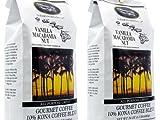Kona Vanilla Macadamia Nut Coffee 3 pound (two 24 oz bags)