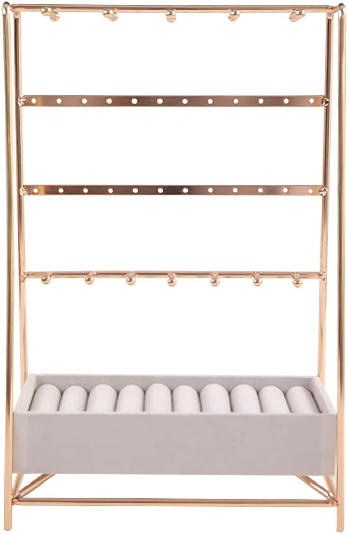 All items free shipping DAGCOT Jewelry Stand 4 Tier Holder Organizer Earring 5% OFF Necklaces
