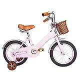 Biciclette YANFEI Bici per Bambini Baby Car 12/14/16/18 Pollici Mountain Bike Vintage Moonlight Bianco, Rosa Regalo per Bambini (Colore : Rosa, Dimensioni : 18 inch)