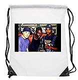 Sensational Rare 2Pac Tupac Shakur & Big Daddy Kane Photo Rap Legends Hip Hop Rap Drawstring Backpack Waterproof Folding Gym Bag Perfect for PE School Work Travel Sport for Adults & Children