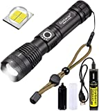 Rechargeable LED Flashlight,XHP50 High Lumens Flashlights 3000 Lumens 5 Modes LED Torch