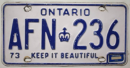 ONTARIO Nummernschild KANADA Kennzeichen # Auto - Schild aus Nordamerika # CANADA