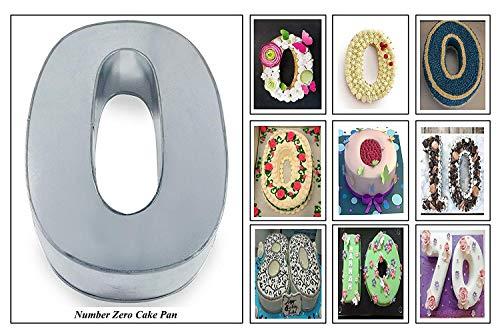 EURO TINS Large Number Wedding Birthday Anniversary Baking Cake Pan 14' X 10' (0)