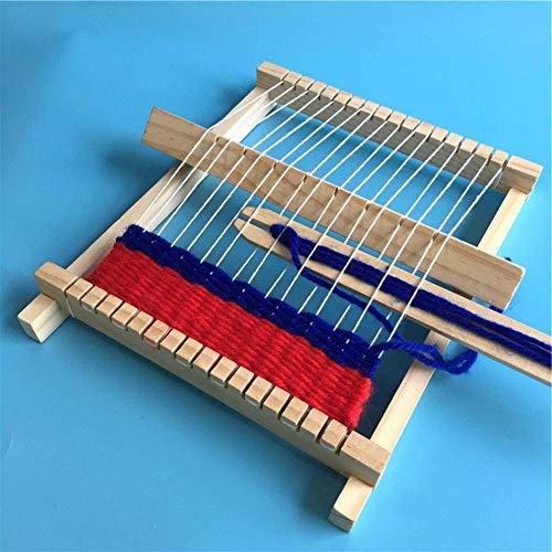 idalinya Weben von Lernspielzeug, Weber, Kinder Webmaschine Umweltfreundliche und ungiftige Handstrickmaschine Holzwebstuhl Spielzeug Kinder für Kinder DIY