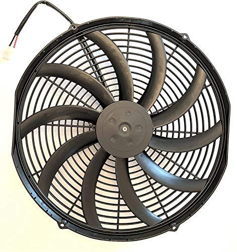 SPAL 30102049 16' Puller Fan 12 VOLT High Performance Curved Blade 2024 cfm