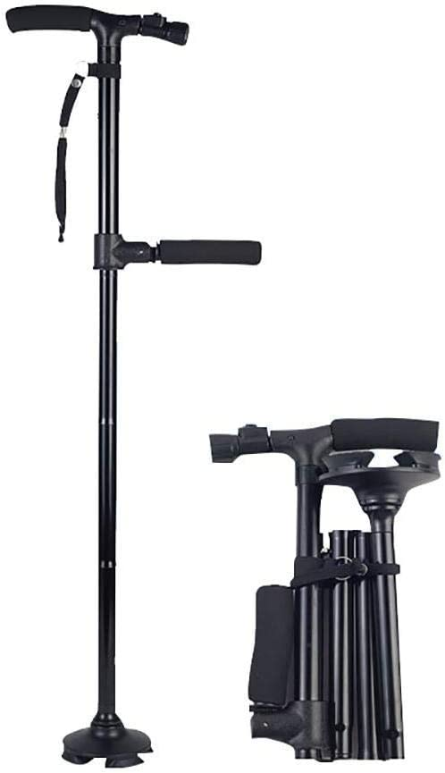 Many popular brands FMOGE Foldable Walking Cane with Light Design Handle Double Quality inspection Led