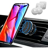FLOVEME Magnetic Phone Holder, Air Vent Magnetic Car Phone Holder, 360 Degrees Rotation Mobile Phone Holders for Cars Compatible for iPhone XR, XS, X, 8, 7, Samsung Note 9, Note 8, S9, S8, Huawei etc