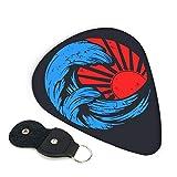 神奈川 津波 ギターピック 3種類の厚さ 6枚セット 初心者用 それぞれ厚さ ピック ウクレレ 音楽ギフト ケース付き