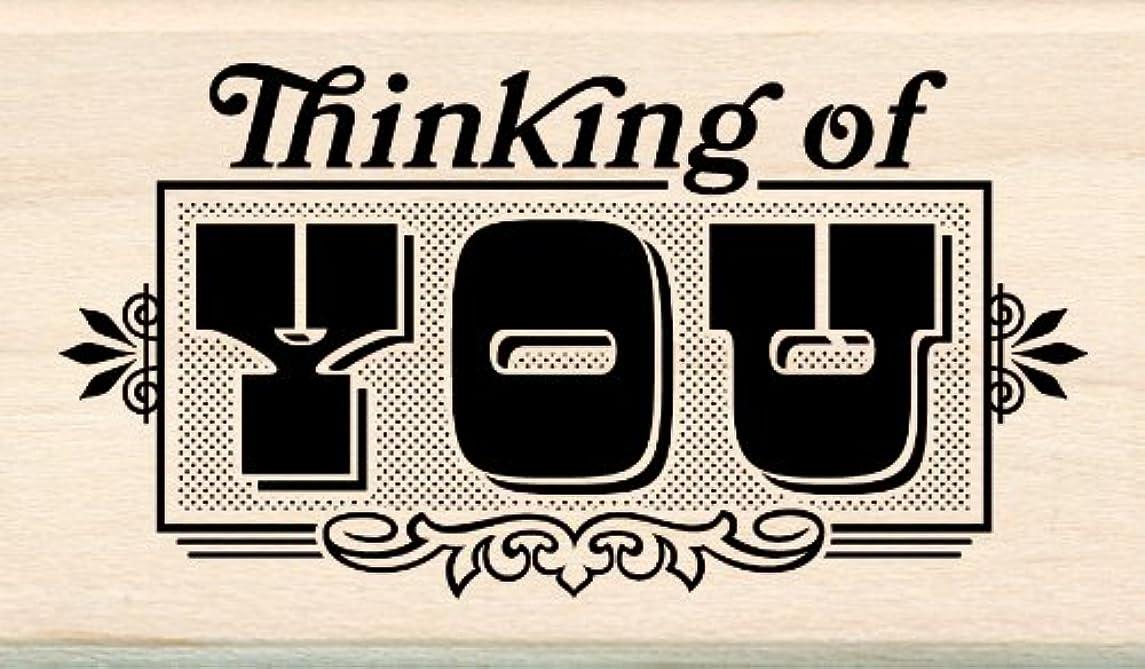 Inkadinkado Wood Stamp, Thinking of You