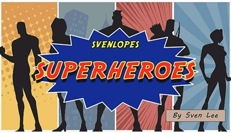 SOLOMAGIA Svengali Envelopes SUPERHEROES (4 x 6 Black) by Sven Lee  Mentalism  Magic Tricks