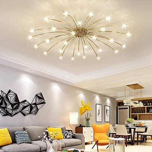 Canness-Home LED Romantique Celling Lumière Gypsophila Lumière Luminaires Restaurant Chambre Hall d'entrée Salle à Manger (Couleur : Blanc, Taille : 15-Light)