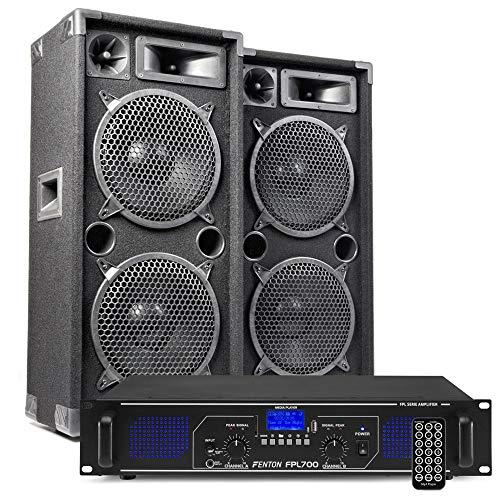 MAX210 DJ luidspreker en Bluetooth versterker combinatie 2000W