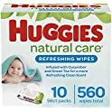 560 Count Huggies Natural Care Refreshing Baby Wipes