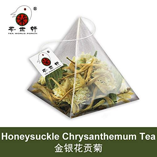 3g X 10pcs Honeysuckle chrysanthemum tea Health Flower Tea Can Use with Chrysanthemum Tea China Green Food jinyinhua