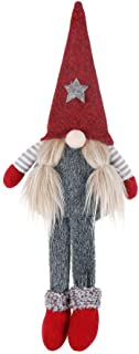 Christmas Gnome, Handmade Gnome Plush Figurine Toy, Irish Gnome Elf Scandinavian Yule Santa Nisse Nordic Soft Doll, Birthday Present Gifts Xmas Hanging Holiday Decoration Ornaments Home Decor (Red)