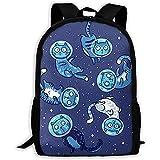 Mochila para Adultos Unisex de Alta Capacidad Galaxy Cats (2) Mochila de Viaje Mochila de Viaje Mochilas Escolares Mochila para portátil