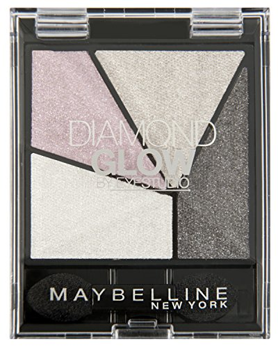 Maybelline New York Lidschatten Eyestudio Quattro Diamond Glow Palette Grey Pink Drama 04 / Eyeshadow Set in Grau- und Rosa-Tönen mit WET-Technologie, 1 x 3,7 g