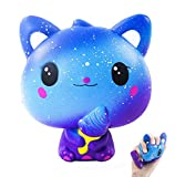 Squishy Chat, Anti Stress Squishy Jumbo Jouet Glace Kawaii de Galaxy Pas Cher Slow Rising Toy d'Animal Cadeau d'Anniversaire pour Enfant, Adulte Anti Pression Squeeze Toy …