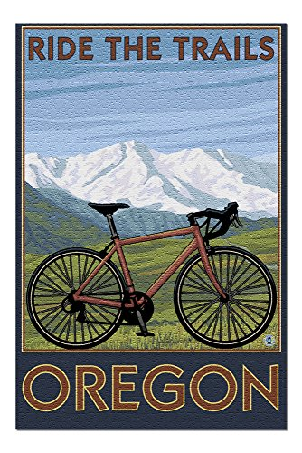 Oregon - Mountain Bike (Mountain) 20380 (19x27 Premium 1000 Piece Jigsaw Puzzle for Adults)