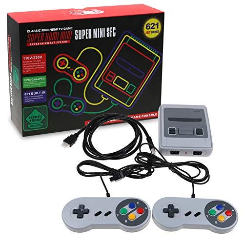 RORA console jeux mini classic, Retro classique vidéo Jeu, Sortie TV HDMI 720p 1080p et deux manettes de jeu 8bit