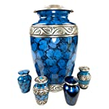 ★ HONOR YOUR LOVED ONE & CREATE A BEAUTIFUL SHARED MEMORY - Keepsake memorial gifts urn set allows you to share the memory of your loved one with friends or family ★ BEAUTIFUL ARTISAN DESIGNED URNS - Stunning adult urns for human ashes with beautiful...