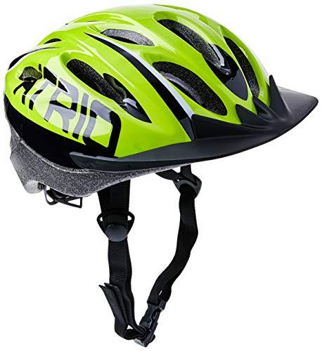 Capacete para Ciclismo MTB 2.0 Tam. G com LED Traseiro 19 Entradas de Ventilação Neon/Preto - BI169 Atrio Adultos