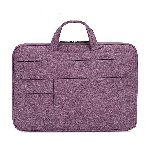 Zwbfu bolsa portátil para laptop de 15,6 polegadas, capa para laptop à prova d'água, bolsa de nylon para laptop, bolsa de lazer, negócios, roxo