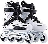 Patines en línea Rodillo Ajustable Original De Velocidad Patines En Línea Profesional For Niños Adultos Roller Skating Tamaño De Los Zapatos 35-43 Patinaje Libre PATINS, 2 Colores Protección Complet