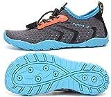 SAGUARO Escarpines Niños Niñas Escarpines Piscina Secado Rápido Antideslizante Zapatos para Deportes Acuaticos Azul 36 EU