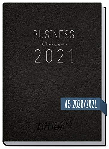 Chäff Business-Timer 2020/2021 A5 schwarz   Wochenplaner 18 Monate: Jul 2020 - Dez 2021   Wochenkalender, Organizer, Terminkalender für perfektes Zeitmanagement   klimaneutral und nachhaltig
